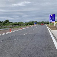 Mile long M1 bus lane extension now operational