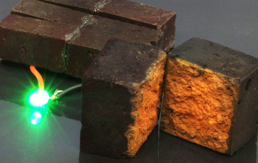 Researchers Turn Red Bricks Into Supercapacitor Battery