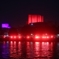 Arts venues illuminated red to symbolise plight of creative industries