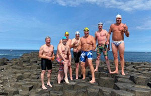 Northern Ireland swimmers first to conquer Islay to Giant's Causeway route