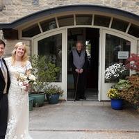 Record-breaking vicar plays his part in granddaughter's wedding despite lockdown