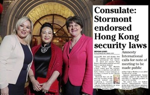 'No transcript' of China call on Hong Kong says Arlene Foster's aide