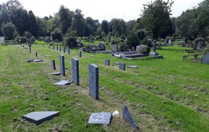 War graves damaged in Belfast City Cemetery