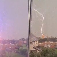 'Sorry for the bad language': Lightning bolt stuns Wrexham resident