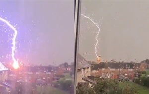'Sorry for the bad language': Lightning bolt stuns Wrexham resident