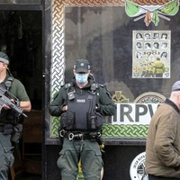 Saoradh offices raided as nine continue to be questioned