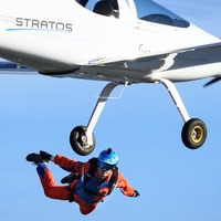 Swiss team claims first freefall jump from solar plane