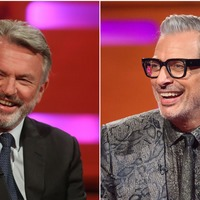 Dino-mite: Sam Neill and Jeff Goldblum perform duet during Jurassic World break