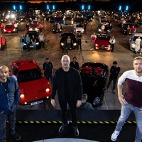 Top Gear filmed in front of live drive-in audience at race track