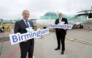 Air services take off again to Manchester and Birmingham