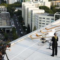 Rooftop alphorns power virus-safe concert in Germany