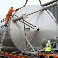 Six 130,000-litre fermentation vessels arrive at Scotland's first biorefinery