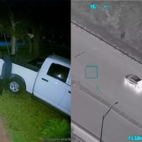 Police helicopter pilot spots car thieves on their home doorbell camera