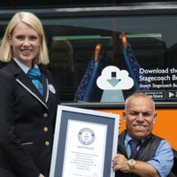 Key worker from Hampshire named world's shortest bus driver