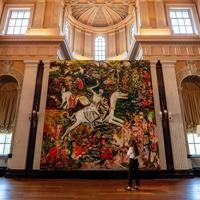 Blenheim Palace paintings explore 'nostalgic fantasies of British stately home'