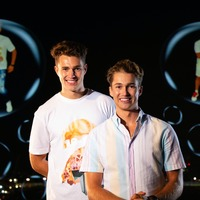 AJ and Curtis Pritchard have dance duet beamed into the sky