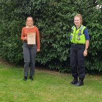 Papergirl wins award for saving elderly man's life
