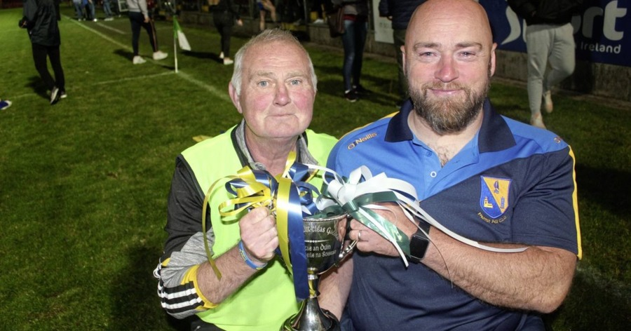 St Paul's, Holywood manager Peadar Heffron: ''We are over the moon at final victory''
