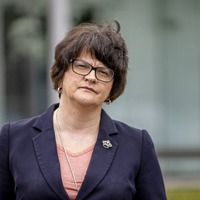 Arlene Foster dismisses claims of a split with Sammy Wilson