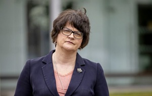 Arlene Foster dismisses claims of a split with Sammy Wilson