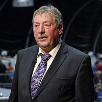 Arlene Foster says everyone equally subject to the law as Sammy Wilson pictured on train without face covering