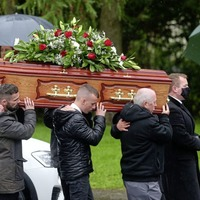 Funeral for west Belfast drowning victim Michael Willis