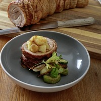 James St Cookery School: Pork belly with apple sauce, apple and pear crumble