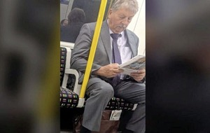 Arlene Foster says 'everyone equally subject to law' as photo shows Sammy Wilson on London Underground without mask