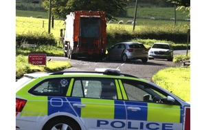 Car in collision with bin lorry outside Carrickfergus