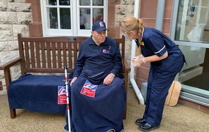 Surprise birthday present for blind war veteran out of Covid isolation