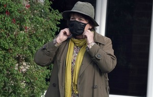 Brenda Blethyn wears face covering as filming on Vera resumes