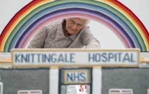 Great-great-grandmother crafts 'Knittingale' hospital to raise funds for NHS