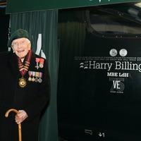 Train named in honour of D-Day hero Harry Billinge