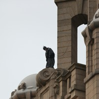Batman stunt double spotted on top of Liverpool's Royal Liver Building