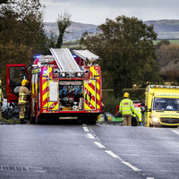 Four taken to hospital following crash between school bus and car