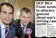 Edwin Poots says 'deplorable' that Irish News could query son's driving charge before court case