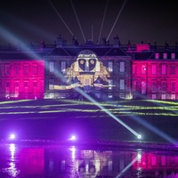 Lighting trail transforms Outlander stately home