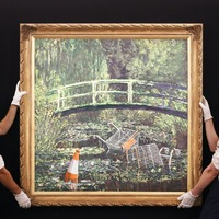 Banksy's reimagining of Monet smashes expectations at auction
