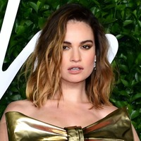 Lily James appears on US chatshow following Dominic West controversy