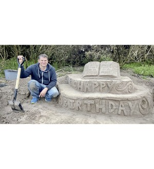 Andrew Difford's sand sculptures become the talk of Co Antrim and afar