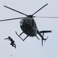 Daredevil nursing bruised bottom after 40-metre jump into the Solent