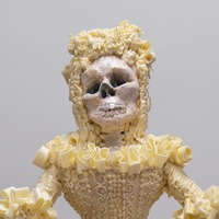 Halloween bride made from 333 bars of Cadbury's chocolate