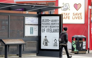 Translink reports bus stop posters erected by republican group to police