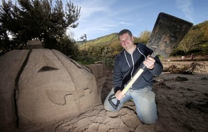 'Sand pumpkins' crafted on Co Antrim beach to mark Halloween