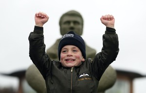 Boy, seven, completes 30-mile walk to raise more than £21,000 for RAF charity