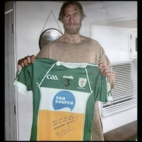 Hollywood star Alexander Skarsgard signs Co Down GAA club's jerseys while filming new movie in the area