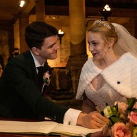 Couple tie the knot to make White-Christmas a reality