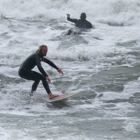 In Pictures: Surf's up in Dorset as wave riders brave the elements