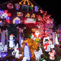 Incredible Christmas light displays switched on to bring early festive cheer