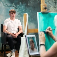 Paul Mescal strikes a pose for Portrait Artist Of The Year competition